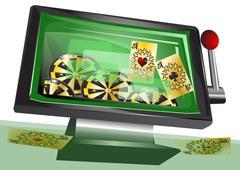 Stock Illustration of online gambling