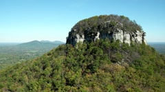 Pilot Mountain, NC. State Park in Autumn - stock footage