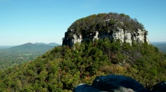 Pilot Mountain, NC. State Park in Autumn Stock Footage