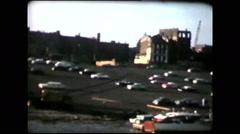 Cincinnati parking lot by the water (vintage 8mm home movies) - stock footage