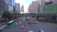 Stock Video Footage of Timelapse aerial view Shenzhen business center highway heavy traffic freeway car