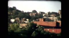 Mt Adams, Cincinnati (vintage 8mm home movies) Stock Footage