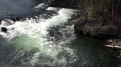 The Yellowstone River, Wyoming Stock Footage