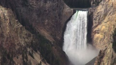 Lower Falls of the Yellowstone River, Yellowstone National Park, Wyoming Stock Footage