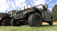 Military Humvee | Green Camo | Tracking Shot 1 - stock footage