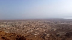 Flight over Dead Sea Stock Footage