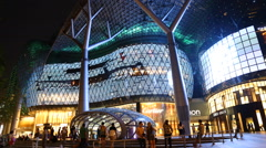 Time lapse of people at ION Orchard shopping mall Stock Footage