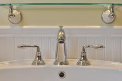 Bathroom Sink And Faucet - stock photo
