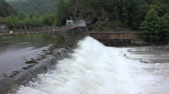 Ocoee river dam number two Stock Footage