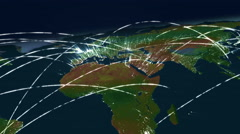 Global network map 720 Stock Footage