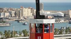 4K Transbordador cable car in Barcelona Stock Footage