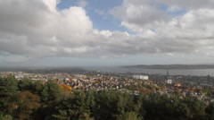 Timelapse of city of Dundee from Dundee Law Scotland Stock Footage