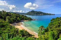 laem sing beach, phuket, thailand - stock photo