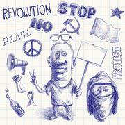 Protest doodle Stock Illustration