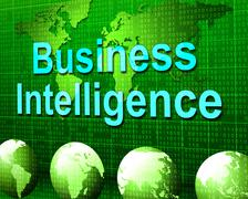 business intelligence showing know how and understanding - stock illustration