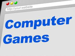 Computer games showing www web and gamer Piirros