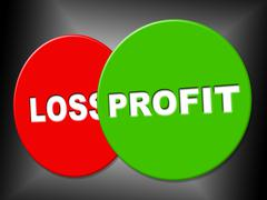 Profit sign meaning success earn and earning Stock Illustration