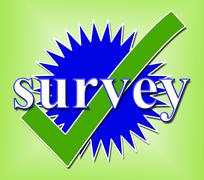survey tick representing check ok and poll - stock illustration