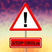 stop ebola meaning epidemic viral and fever - stock illustration