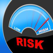 High risk representing lots unsteady and insecurity Stock Illustration