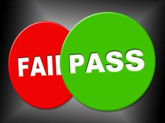 Stock Illustration of pass sign representing passed endorsed and assurance