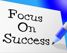 Stock Illustration of focus on success showing victor victory and victors