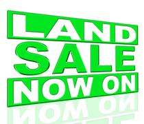 land sale representing at this time and promo - stock illustration