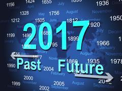 Year twenty seventeen indicating new-year celebrate and celebrating Stock Illustration