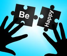 Stock Illustration of be happy meaning contact communication and happiness
