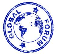 global forum representing group world and worldly - stock illustration