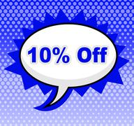 Stock Illustration of ten percent off showing advertisement sale and promotion