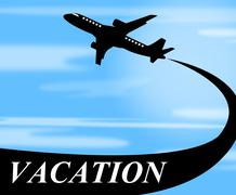 vacation flights representing time off and aviation - stock illustration