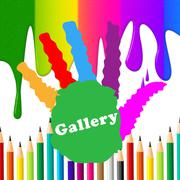 Stock Illustration of kids gallery representing toddlers color and youths