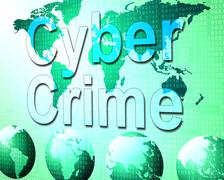Cyber crime representing world wide web and unlawful act Piirros