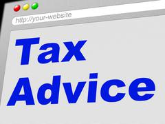 Tax advice showing advisory tips and faq Stock Illustration