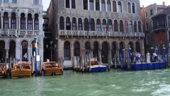 Stock Video Footage Grand Canal Venice traffic - stock footage