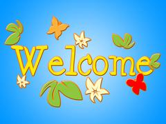 Stock Illustration of welcome message representing hello greetings and communicate
