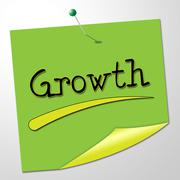 Growth message representing growing correspondence and expand Piirros