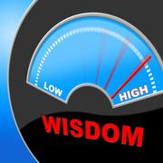 Wisdom high showing wise intellect and proficiency Stock Illustration