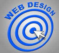 Web design meaning www net and searching Stock Illustration