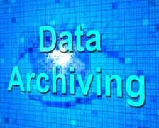 Data archiving representing cataloguing archives and backup Stock Illustration