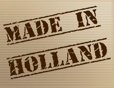 Made in holland representing manufacture export and production Stock Illustration