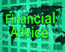 Stock Illustration of financial advice representing info earnings and help
