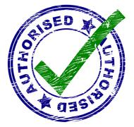 Stock Illustration of authorised stamp meaning all right and mark