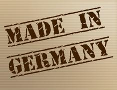 Made in germany meaning import manufacture and industry Piirros