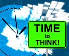 Stock Illustration of time to think meaning at the moment and now