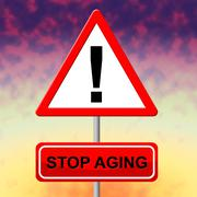 Stop aging representing growing old and degenerative Stock Illustration
