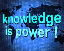 Knowledge is power meaning train learning and develop Stock Illustration
