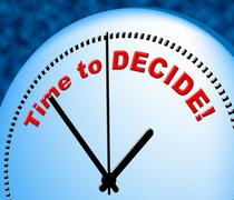 Stock Illustration of time to decide representing at the moment and now