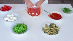 Making pizza - shoot 2 Stock Footage